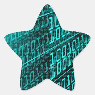 ES Programmierungsprogrammierer des binären Codes Stern-Aufkleber