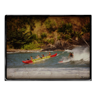 Es reist mit 1 X Kauai zu surfer Postkarte