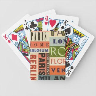 Es reist zu Europa - Chartas des Pokers Bicycle Spielkarten