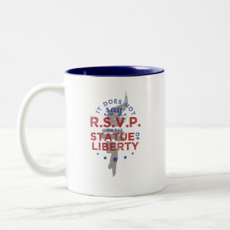 Es sagt nicht UAWG auf dem Freiheitsstatuen Zweifarbige Tasse