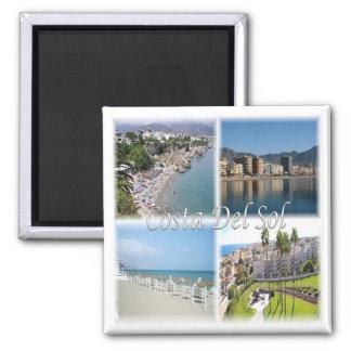 ES * Spanien - Costa del Sol Quadratischer Magnet