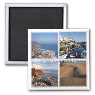 ES * Spanien - Gran Canaria - Kanarische Inseln Quadratischer Magnet