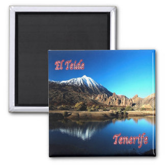 ES - Spanien - Teneriffa - EL Teide Quadratischer Magnet