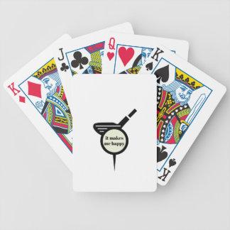 Es stellt mich Glücklich-Golf Tasse her Bicycle Spielkarten