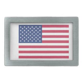 Es stellt mich glückliche amerikanische Flagge her Rechteckige Gürtelschnalle