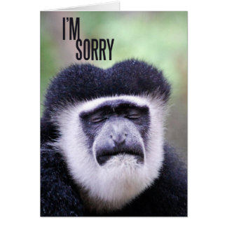 Es tut mir leid Affe Karte