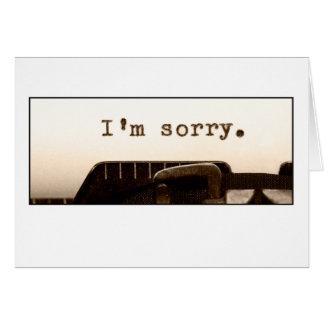 Es tut mir leid Karte