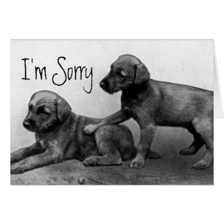 Es tut mir leid - Welpen-Freunde Karte
