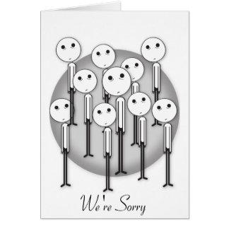 Es tut uns leid Entschuldigungs-Karte - kundengere Grußkarte