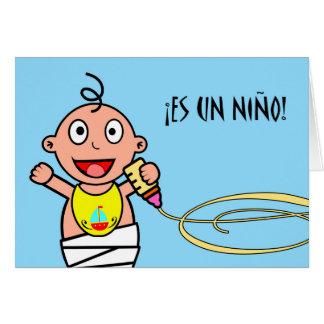 Es-UNO Niño! Glückwünsche auf neuem Baby auf Grußkarte