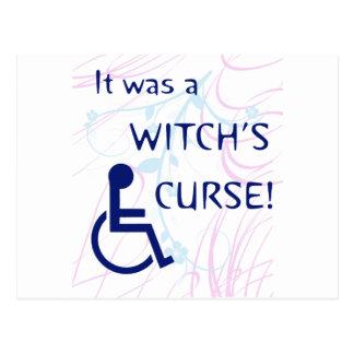 Es war der Fluch einer Hexe: Unfähigkeit Postkarte