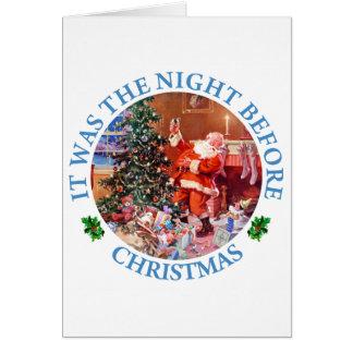 Es war die Nacht vor Chrsitmas Karte