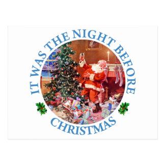 Es war die Nacht vor Chrsitmas Postkarte