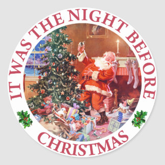 nacht vor weihnachten sticker nacht vor weihnachten. Black Bedroom Furniture Sets. Home Design Ideas
