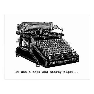 Es war eine dunkle und stürmische Nacht Postkarte