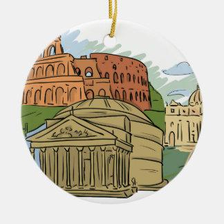 Es wurde errichtet nicht in einem Tag (Rom) Keramik Ornament