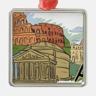 Es wurde errichtet nicht in einem Tag (Rom) Silbernes Ornament
