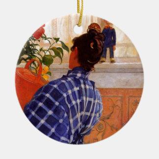 Esbjorn holt Karin-Veilchen Rundes Keramik Ornament
