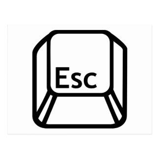 ESC-Entweichenknopf Postkarte