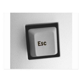 ESC-Taste- ESC Postkarte