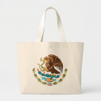 Escudo Nacional de México - mexikanisches Emblem Jumbo Stoffbeutel