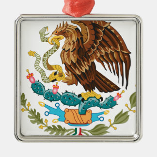 Escudo Nacional de México - mexikanisches Emblem Silbernes Ornament