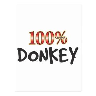 Esel 100 Prozent Postkarte