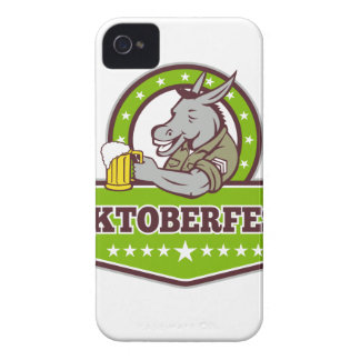 Esel-Bier-Trinker Oktoberfest Retro iPhone 4 Etuis