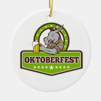 Esel-Bier-Trinker Oktoberfest Retro Keramik Ornament