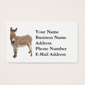 Esel-Fotografie-Entwurf Visitenkarte