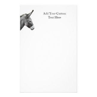 Esel-Hauptprofil Briefpapier