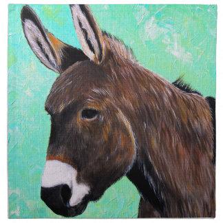 Esel-Malerei Stoffserviette