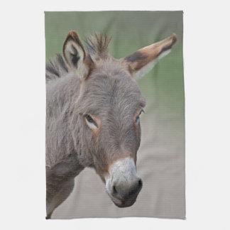 Esel-Porträt-Geschirrtuch Handtuch