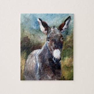 Esel-Porträt-Puzzlespiel Puzzle