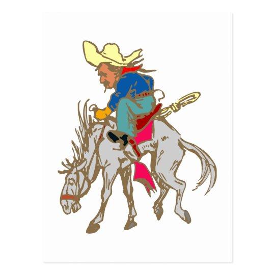 Esel Reiter donkey rider Postkarte