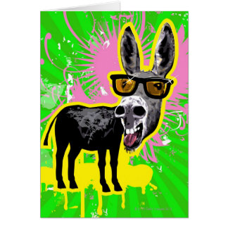Esel-tragende Sonnenbrille Karte