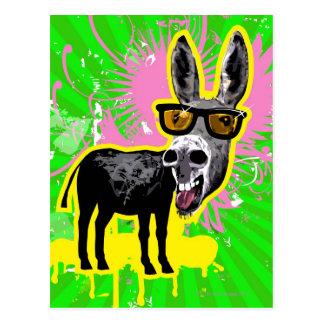 Esel-tragende Sonnenbrille Postkarte