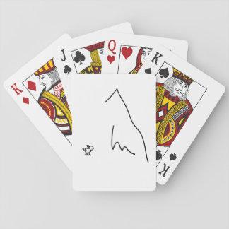 Esel und Berg Kartendeck
