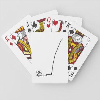 Esel und Linie Spielkarten