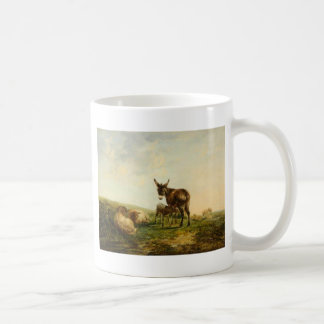 Esel und Schafe durch William Shayer Kaffeetasse
