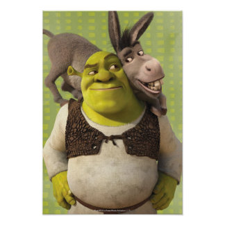 Esel und Shrek Poster