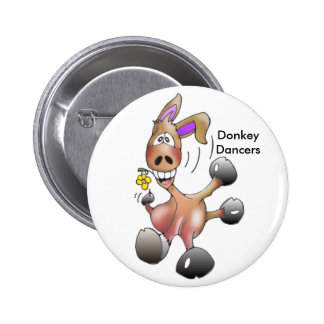 eseltanzend, DonkeyDancers Runder Button 5,7 Cm