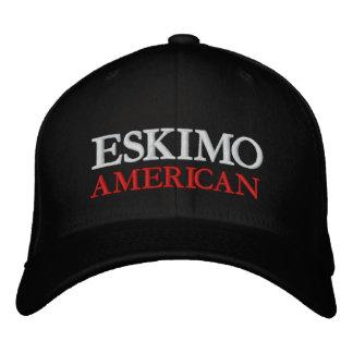 ESKIMO AMERIKANISCH BESTICKTE KAPPE
