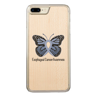 Esophageal Krebs-Bewusstseins-Band Carved iPhone 8 Plus/7 Plus Hülle