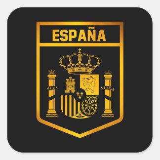 España Emblem Quadratischer Aufkleber