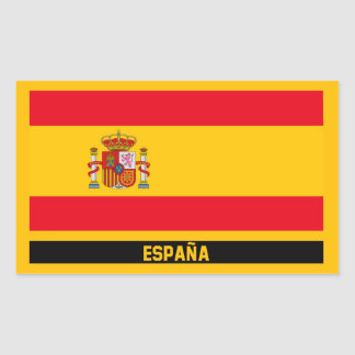 España Flagge Rechteckiger Aufkleber