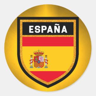 España Flagge Runder Aufkleber