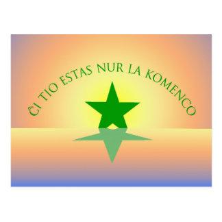 Esperanto: Gerade die Anfang-Postkarte Postkarte