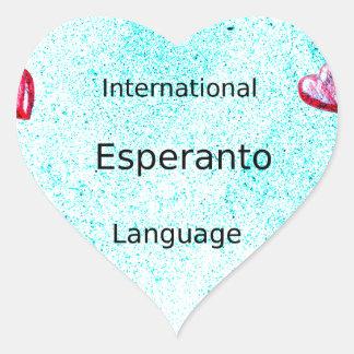 Esperanto-internationaler Sprachentwurf Herz-Aufkleber