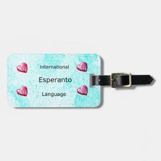 Esperanto-internationaler Sprachentwurf Kofferanhänger